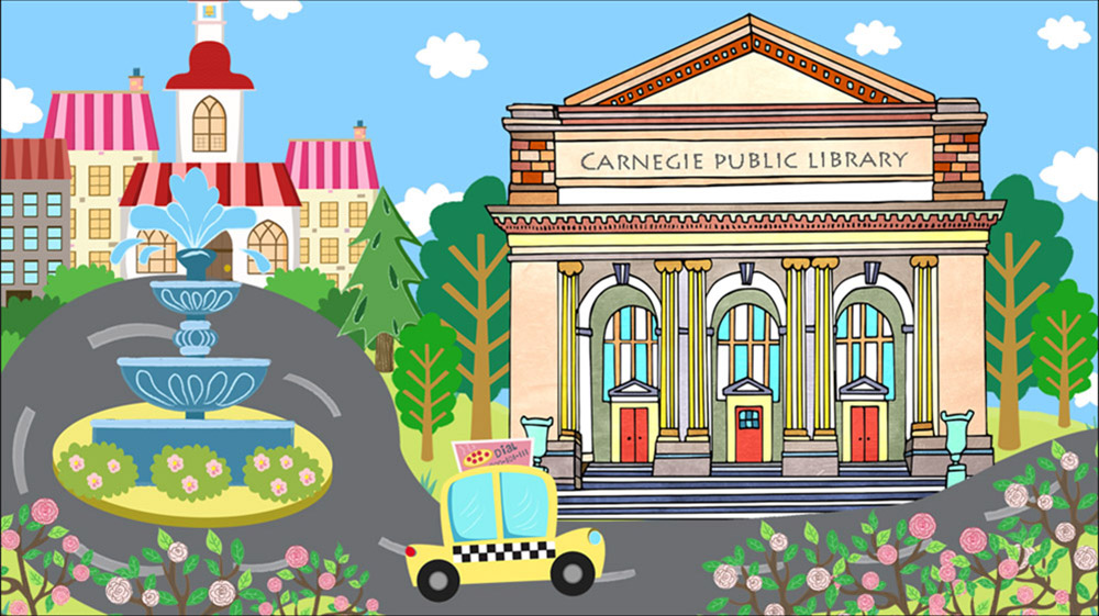 Carnegie Library Illustration