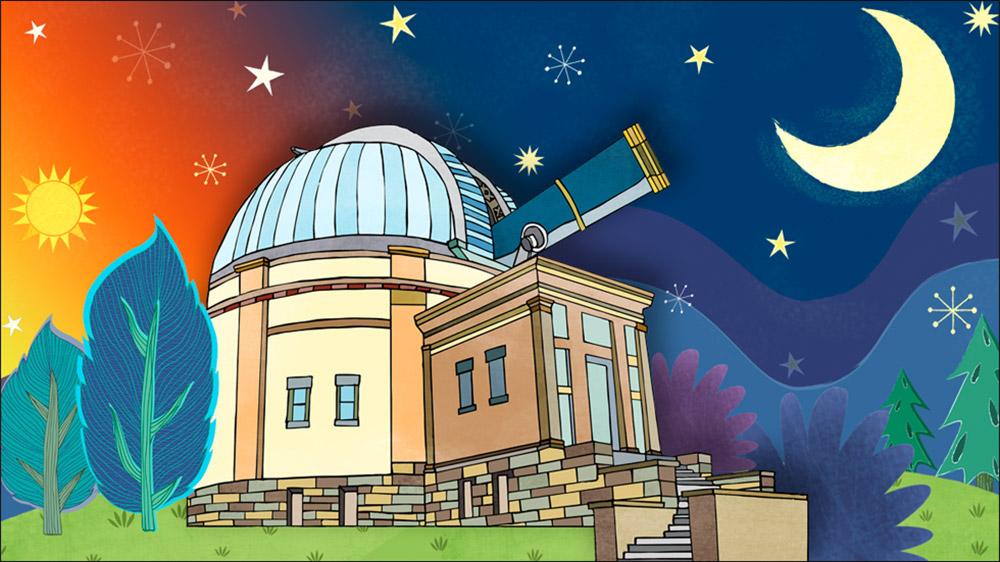 Carnegie Observatory Illustration