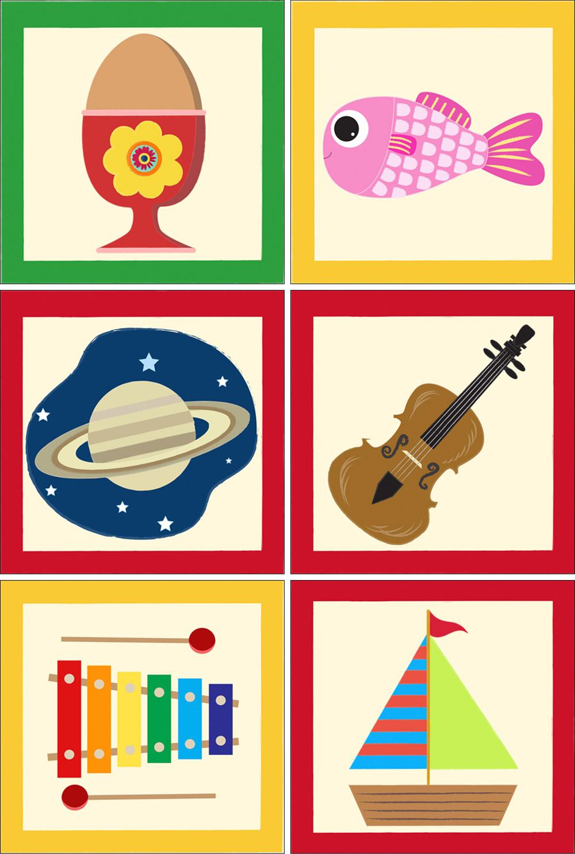 alphabet bricks illustration