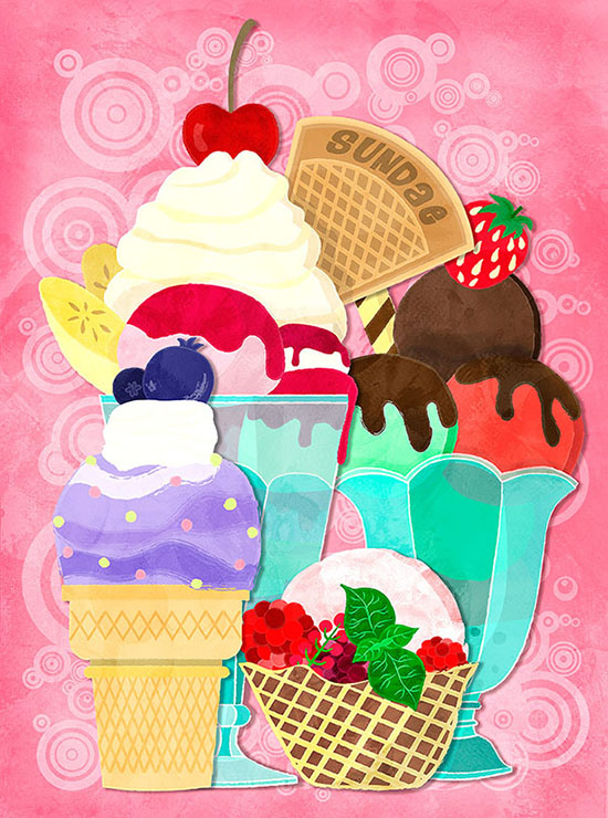 Sundae Sunday Illustration
