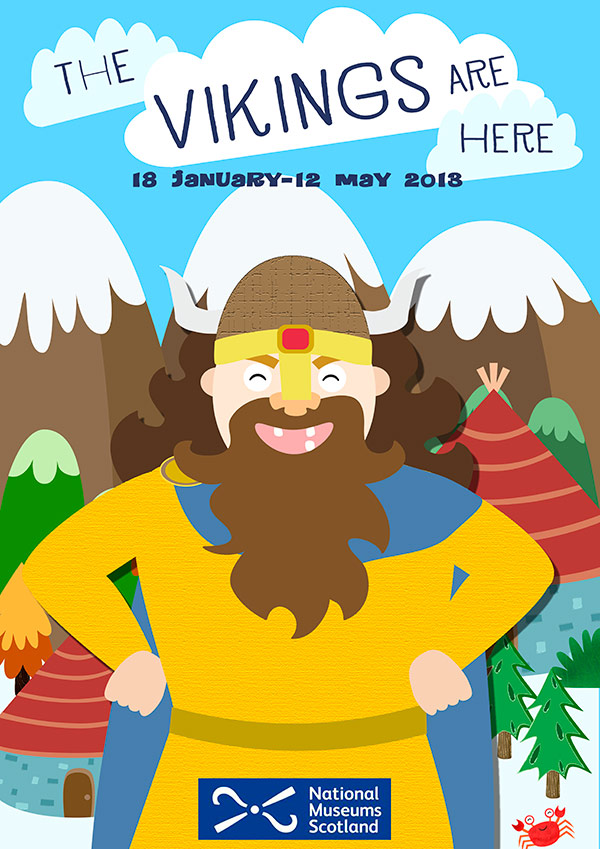 national museum of scotland viking poster illustration