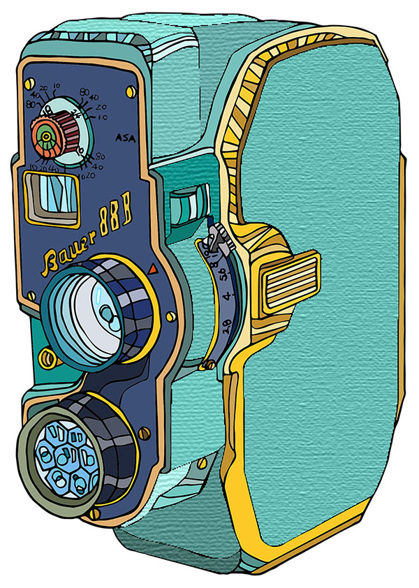 Bauer 888 Vintage Video Camera