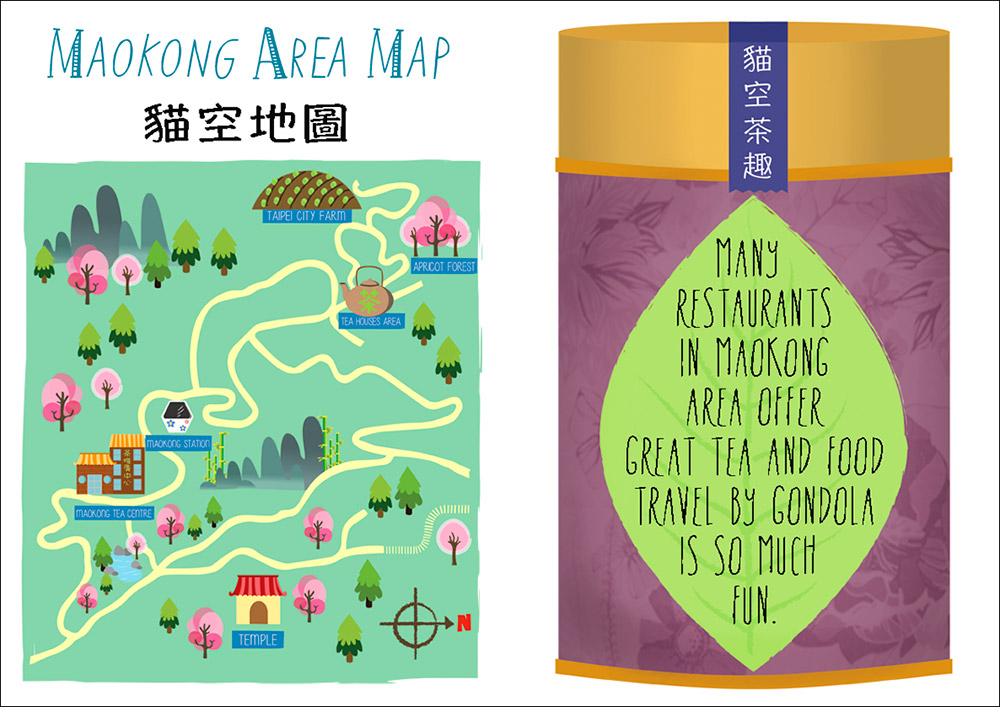 Maokong Taipei Illustrated Map