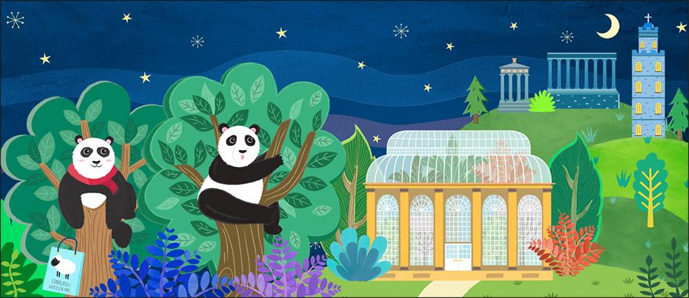Edinburgh panda book illustration